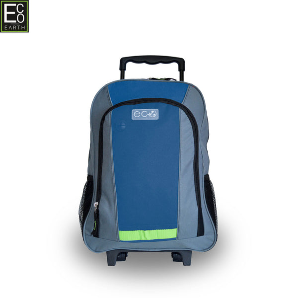 Eco Earth School Trolley Backpack | Navy - KaryKase