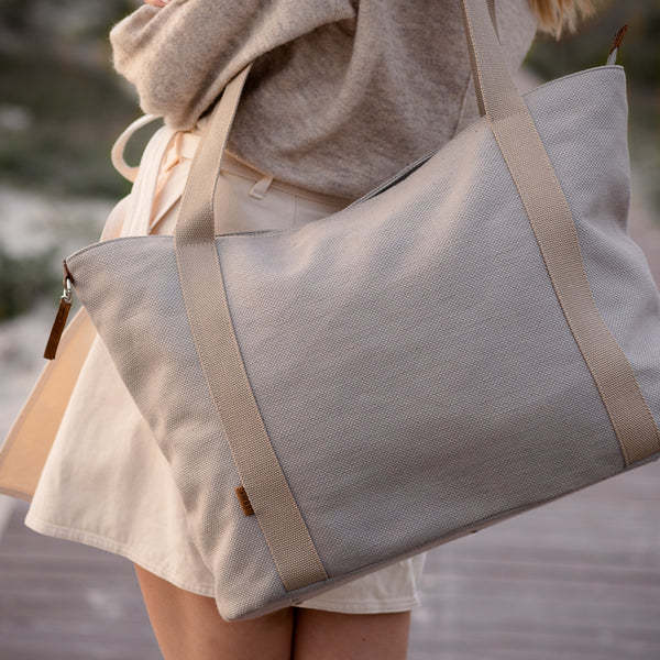 Zemp Clifton Medium Shopper Bag | Ocean - KaryKase