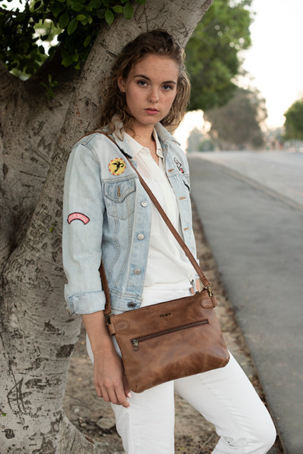 Zemp Ibiza Cross Body Bag | Chestnut - KaryKase