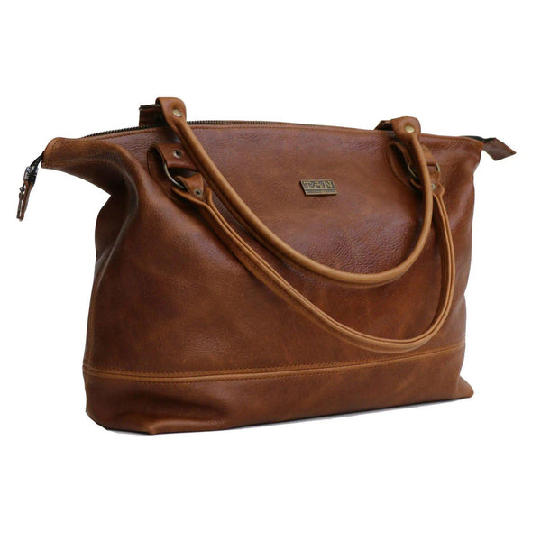 Tan Leather Goods - Daisy Leather Handbag | Pecan - KaryKase
