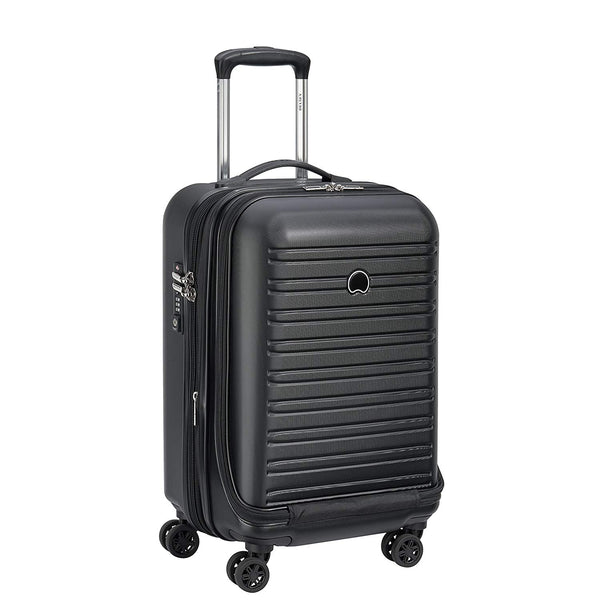 Delsey Segur 2.0 Expandable Cabin Business Case 55cm | Black - KaryKase