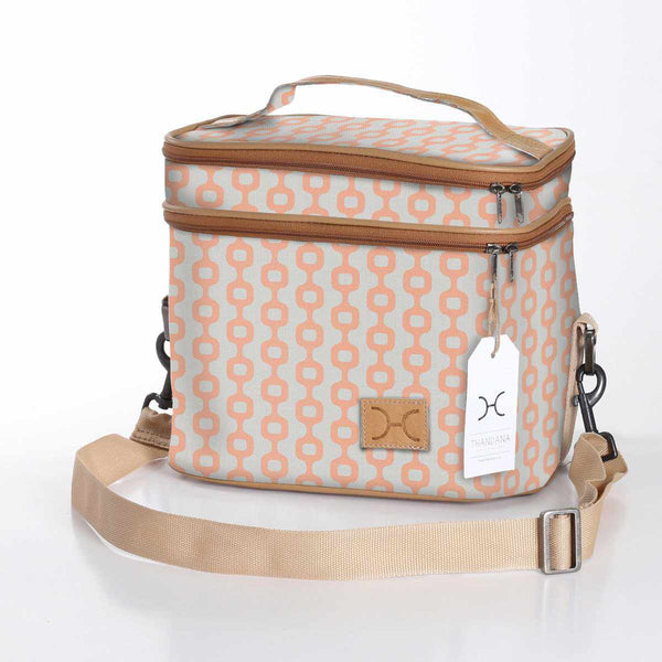 Thandana Laminated Fabric Double Decker Cooler Bag - KaryKase