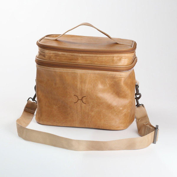 Thandana Leather Double Decker Cooler Bag