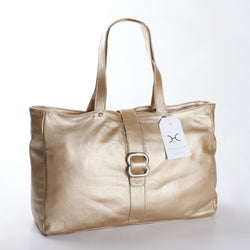 Thandana Ellie Metallic Leather Handbag | Gold - KaryKase