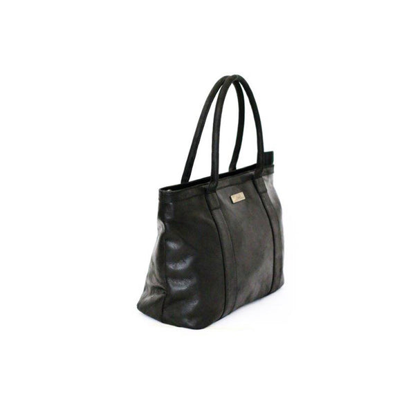 Mally Emily Leather Handbag | Black - KaryKase