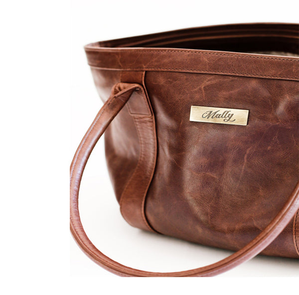 Mally Emily Leather Handbag | Brown - KaryKase