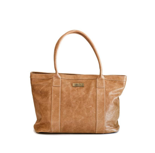 Mally Emily Leather Handbag | Tan - KaryKase