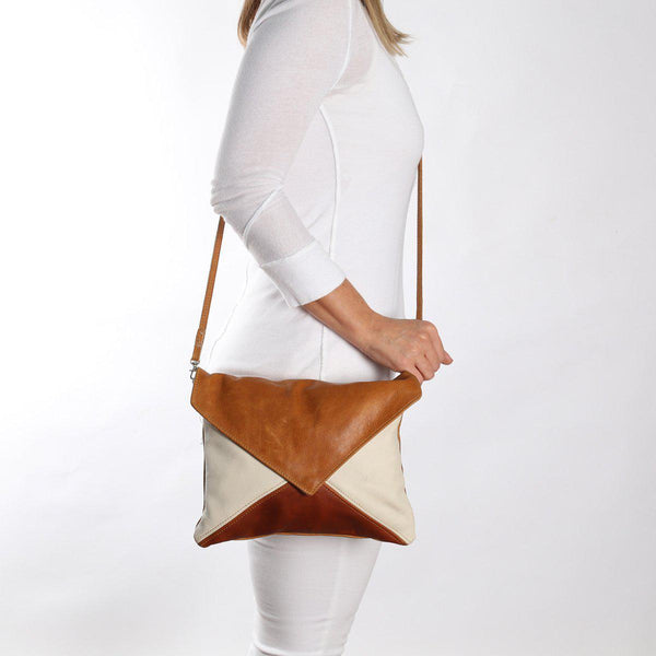 Thandana Envelope Leather Handbag | Autumn - KaryKase