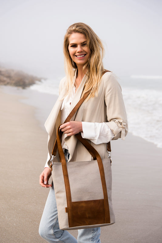 Zemp Coffee Bay Medium Shopper | Platinum - KaryKase