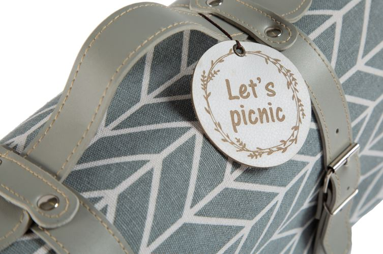 Yuppie Gift Baskets Picnic/Beach Rug Large | French Grey - KaryKase