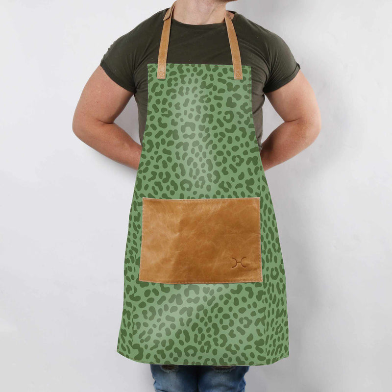 Thandana Laminated Fabric with Leather Pouch Apron - KaryKase