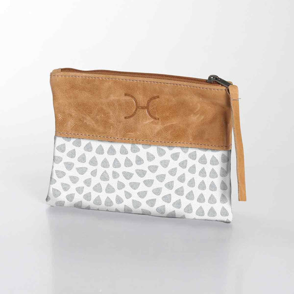 Thandana Laminated Fabric With Leather Pouch - KaryKase
