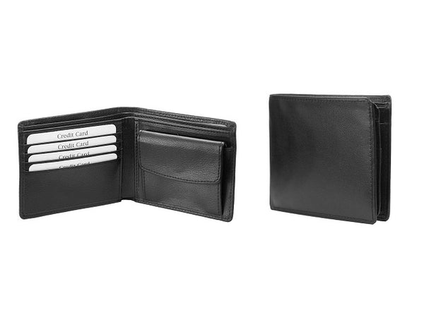 Adpel Leather Two Fold Wallet | Black