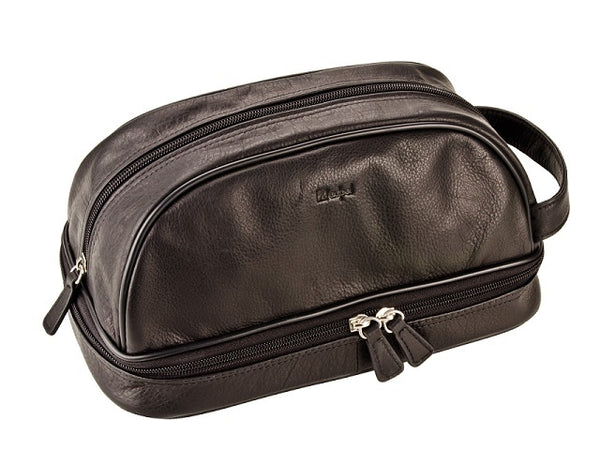 Adpel Nappa Leather Toiletry Bag | Black - KaryKase