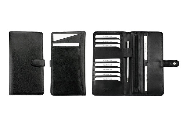 Adpel Leather Slimline Travel Wallet | Black