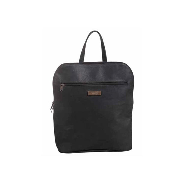 Mally Traveler Leather Backpack | Black