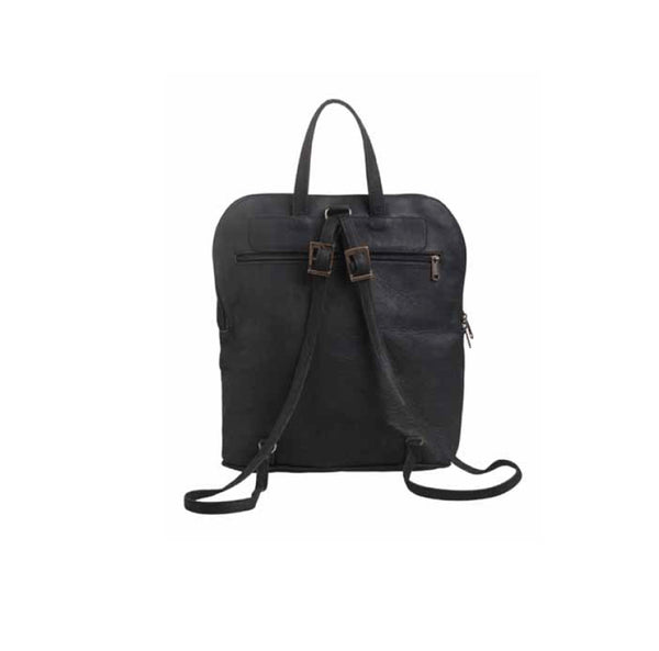 Mally Traveler Leather Backpack | Black - KaryKase