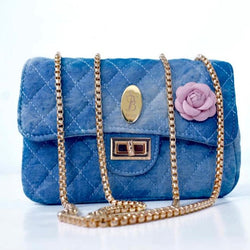 STB Secure Signature Denim Clutch Bag | Faded Blue - KaryKase