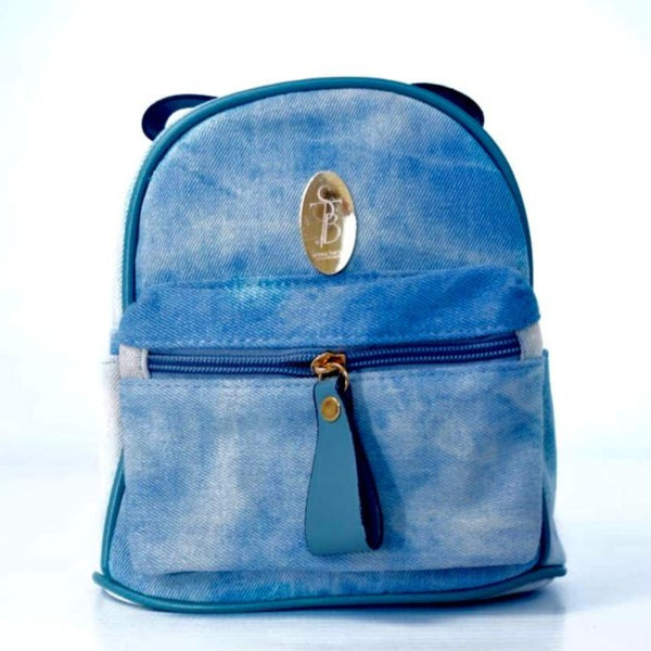 STB Secure Mini Art Denim Fashion Backpack | Faded Blue - KaryKase