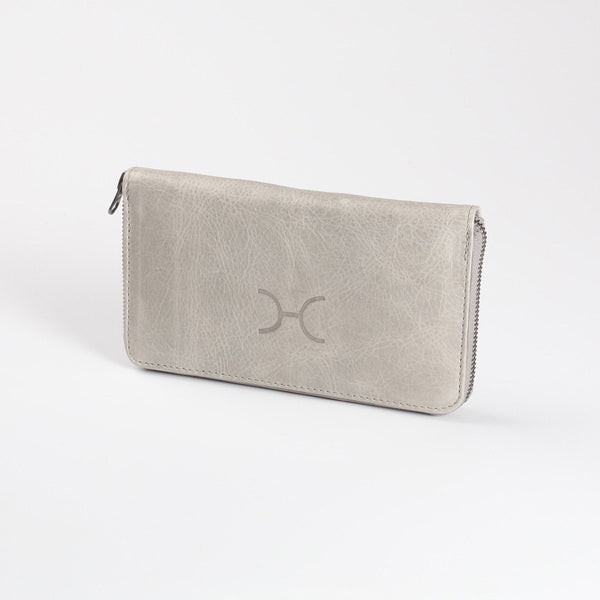 Thandana Ladies Large Leather Wallet | Grey - KaryKase
