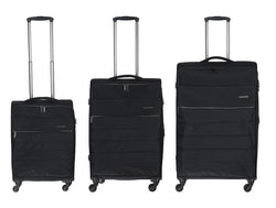 Conwood Expandable Spinner Luggage Set | Black - KaryKase