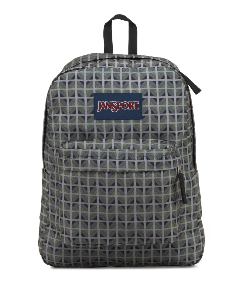 Jansport SuperBreak® Backpack | Muted Green Window Pane - KaryKase
