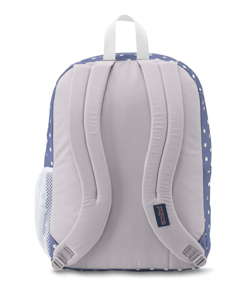 Jansport Big Student Backpack | Bleached Denim/White Dot - KaryKase
