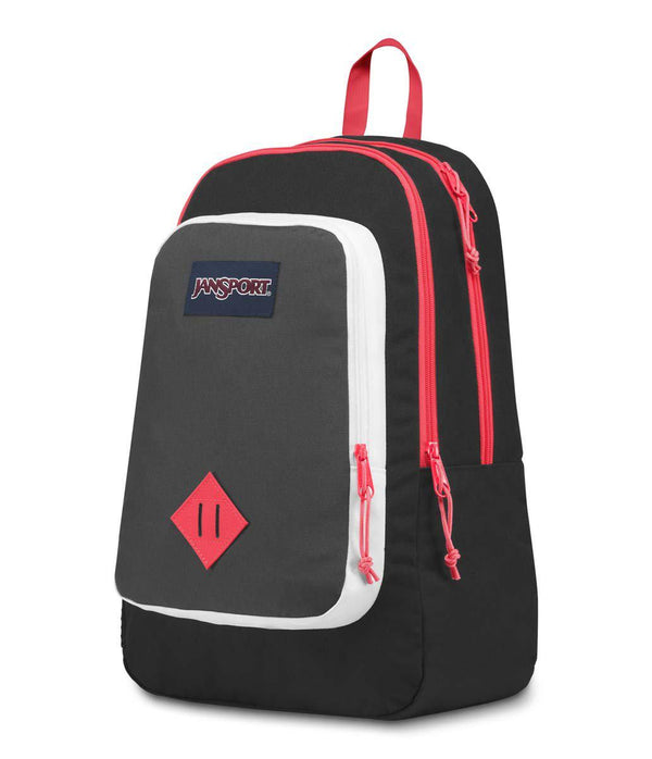 Jansport Super Sneak Backpack | Black Fluorescent Red