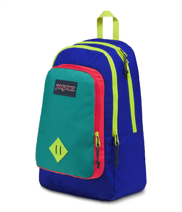 Jansport Super Sneak Backpack | Regal Blue/Neon Yellow