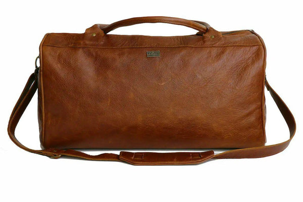 Tan Leather Goods - Jackson Leather Duffel Bag | Pecan - KaryKase