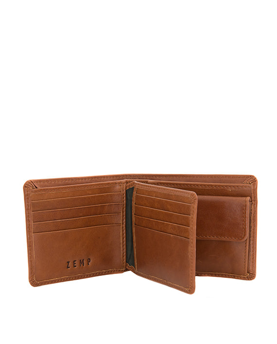 Zemp James 8 CC Billfold Wallet | Toffee Tan - KaryKase