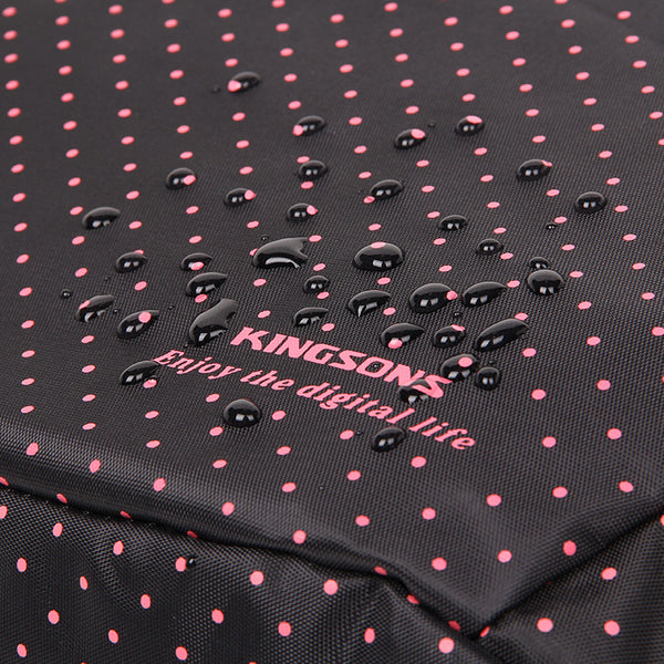 Kingsons Black Match Pink Hot Dot Series Shoulder Bag