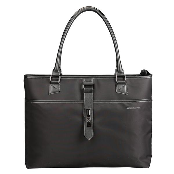 Kingsons Bella Series Ladies Laptop Shoulder Bag | Black - KaryKase