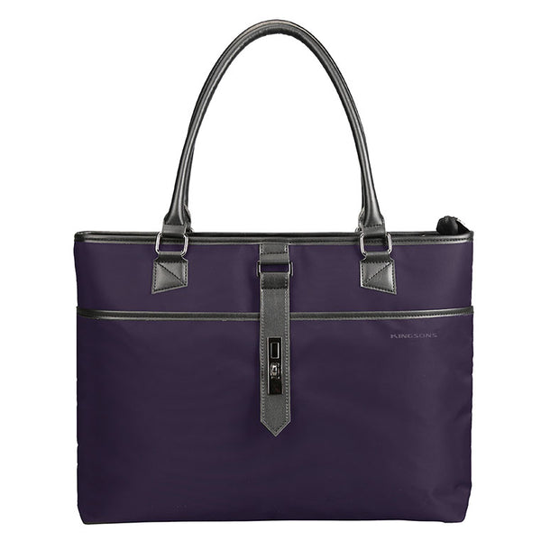 Kingsons Bella Series Ladies Laptop Shoulder Bag | Purple