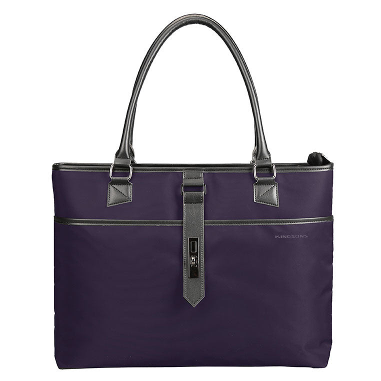 Kingsons Bella Series Ladies Laptop Shoulder Bag | Purple - KaryKase