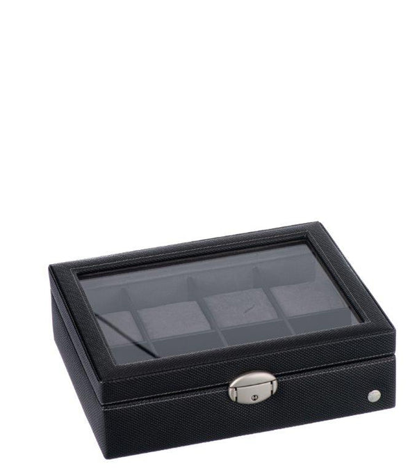 Caramia Lexi Watch Box 8 | Black Carbon Fiber - KaryKase