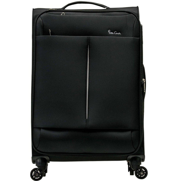 Pierre Cardin Ultralite 4 Wheel 78cm Large Spinner | Black - KaryKase