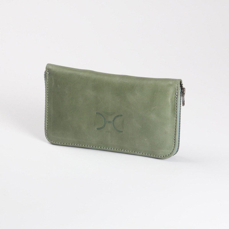 Thandana Ladies Large Leather Wallet | Green - KaryKase
