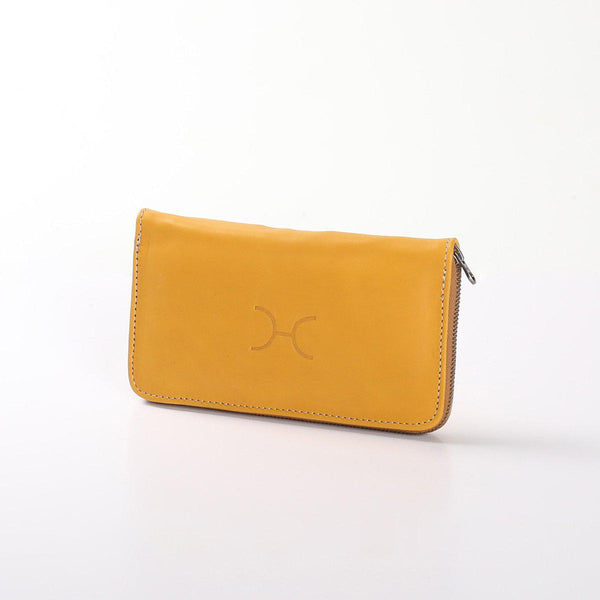 Thandana Ladies Large Leather Wallet | Mustard - KaryKase