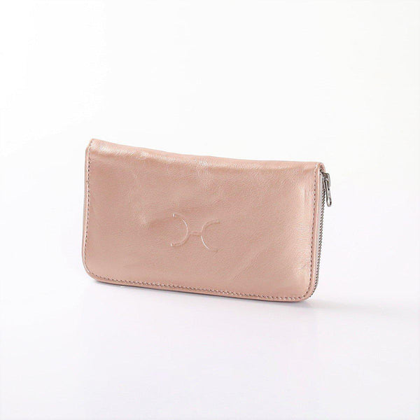 Thandana Ladies Large Wallet Metallic Leather | Rose Gold