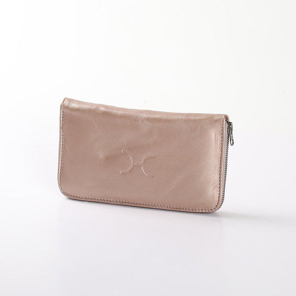 Thandana Ladies Large Wallet Metallic Leather | Champagne