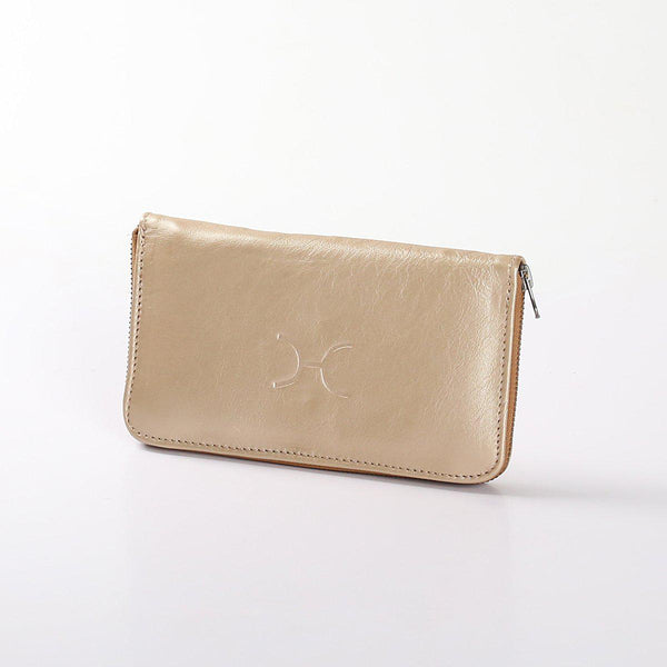 Thandana Ladies Large Wallet Metallic Leather | Gold