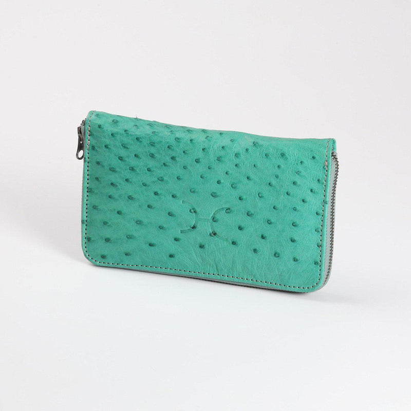 Thandana Ladies Large Ostrich Leather Purse - KaryKase