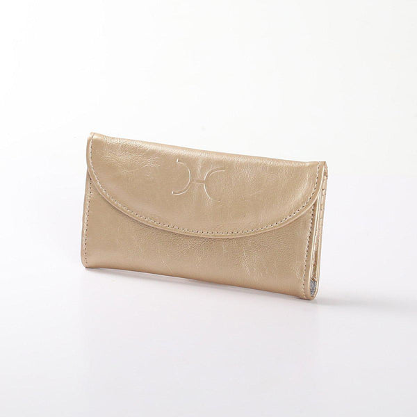 Thandana Ladies Metallic Leather Purse | Gold - KaryKase