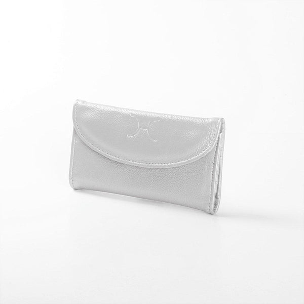 Thandana Ladies Metallic Leather Purse | Silver - KaryKase
