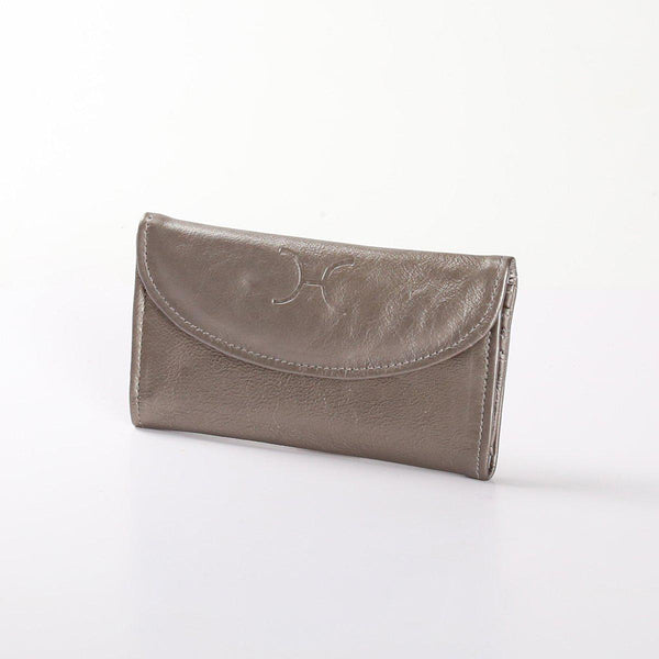 Thandana Ladies Metallic Leather Purse | Pewter - KaryKase