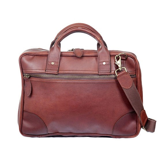 Melvill & Moon Leather Single Sleeve Laptop Bag | Brown - KaryKase