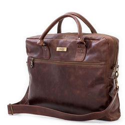 Mally Classic Leather Laptop Bag | Brown
