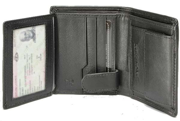 Johnny Black Chicago Mini 6CC Leather Wallet - RFID | Black - KaryKase