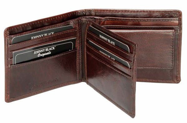 Johnny Black Berlin 10CC Flap Leather Wallet - RFID | Brown - KaryKase